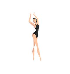 beautifull slim ballerina dancing professional vector image