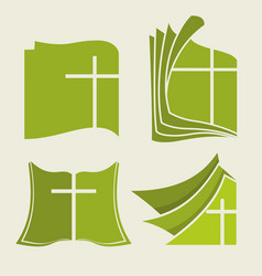 biblical symbols set vector image