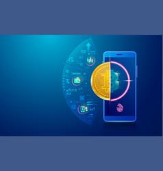 bitcoinwallet2 vector image