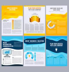 business flyers corporate brochure booklet pages vector image
