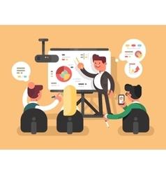 Business report presentation vector image