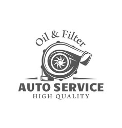 Car service label isolated on white background vector