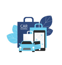 Carsharing concept rent car for shopping vector