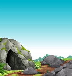 Cave scene vector