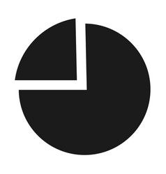 chart pie icon simple style vector image