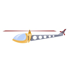Childrens toy helicopter vector