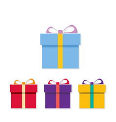 Chrismtas set of gift boxes vector