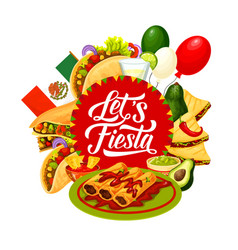 cinco de mayo mexican holiday food and drink vector image