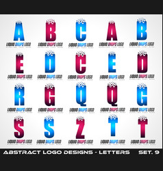 collection creative logo letter designs vector image