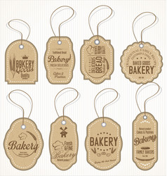 collection vintage bakery labels vector image