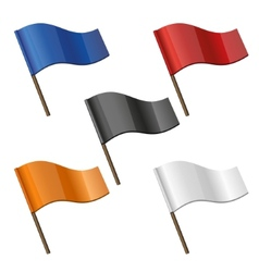 Color Curl Flags Icon Set vector image