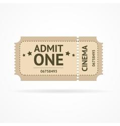 color ticket vector image