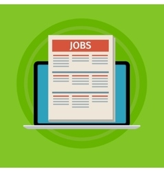 Concept of job searching vector image