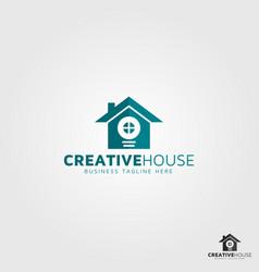 creative house logo template vector image
