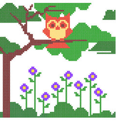 Cross stitch embroidery design for seamless vector