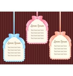 cute pastel colorful ribbon text dialog box or vector image