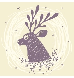 deer fabulous vector image