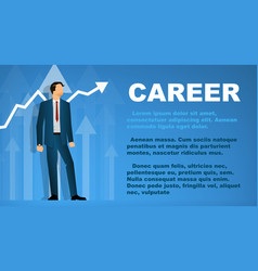 design a banner on the topic of career vector image