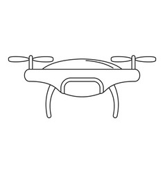 drone icon outline style vector image