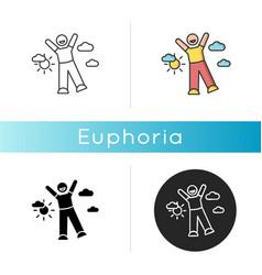 Euphoria icon vector