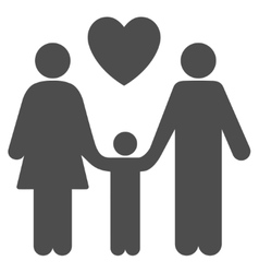 Family Love Flat Icon vector image