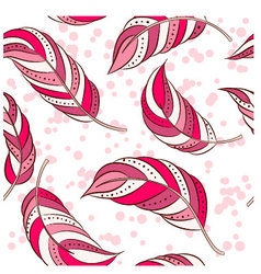 Feathers-pink vector