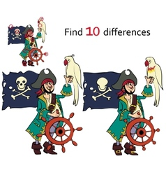 Find ten differences vector image