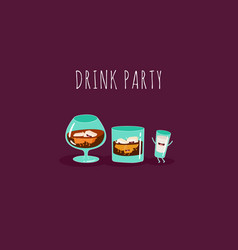 Funny cocktail vector