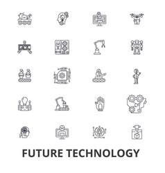 Future technology future vision futuristic vector