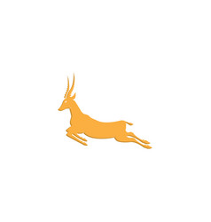 gazelle goat jump antelope goat ghazal run vector image