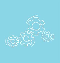 Gear wheel and cog wheel icon vector