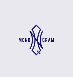 Geometric monogram nq vector