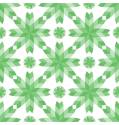Geometric pattern flowers style mosaic vector