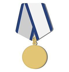 Golden medal vector image