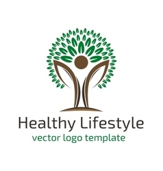 Healthy lifestyle logo vector