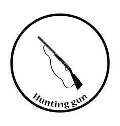 Hunting gun icon vector image