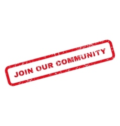 Join Our Community Text Rubber Stamp vector