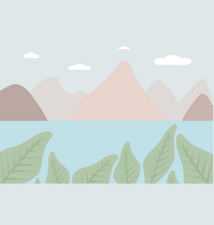 Landscape from fantasy compositions sea with vector