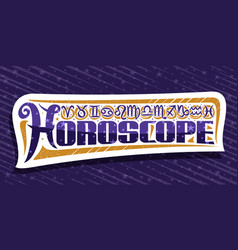 Logo for horoscope vector