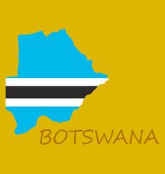 Map flag botswana vector