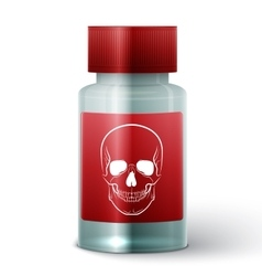 Medicine bottle with poisonous liquid vector
