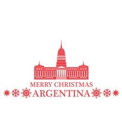 Merry Christmas Argentina vector