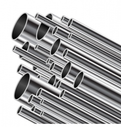 metal tube vector image