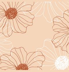 minimalism card floral art background vector image