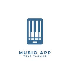 music app logo vector image