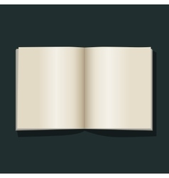 Open book blank empty pages vector