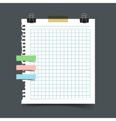 Paper sheet torn from a notebook vector