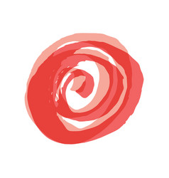 pink red round button painted with a brush vector image