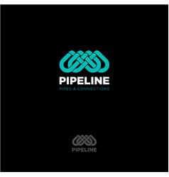 pipeline logo emblem vector image
