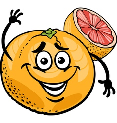 red grapefruit fruit cartoon vector image